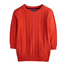 Buy Joules Cleo Cable Knit Jumper, New Melon Online at johnlewis.com