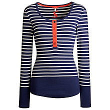Buy Joules Tilly Jersey Top, Navy Stripe Online at johnlewis.com