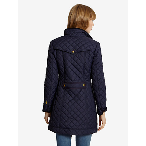 Buy Joules Fairhurst Quilted Jacket, Navy Online at johnlewis.com