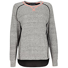 Buy Oui Neon Trim Knitted Top, Light Grey Online at johnlewis.com