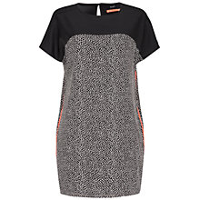 Buy Oui Contrast Print Tunic Dress, Black/White Online at johnlewis.com