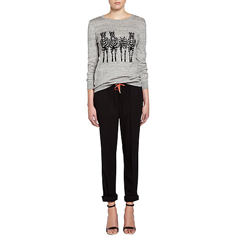 Buy Oui Relaxed-Fit Trousers, Black Online at johnlewis.com