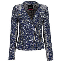 Buy Oui Biker Jacket, Dark Blue Online at johnlewis.com