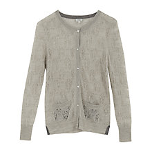 Buy Hoss Intropia Lace Burnout Cardigan, Ivory Online at johnlewis.com