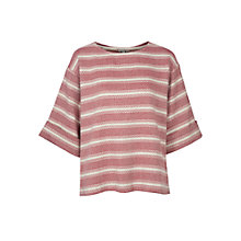 Buy Paul & Joe Sister Mornac Oversized Stripe Top, Red Online at johnlewis.com