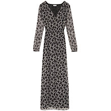 Buy Hoss Intropia Belted Floral Maxi Dress, Black Online at johnlewis.com