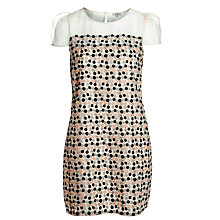 Buy Hoss Intropia Embroidery Silk Shift Dress, Ivory Online at johnlewis.com