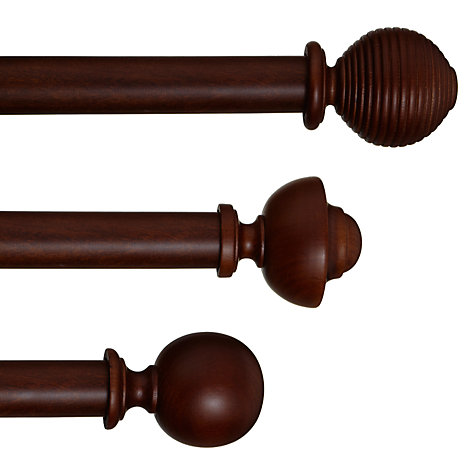 buy john lewis espresso curtain pole range. Black Bedroom Furniture Sets. Home Design Ideas