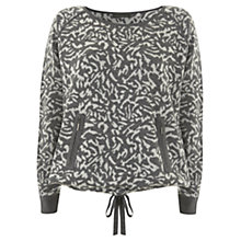 Buy Mint Velvet Jacquard Knitted Jumper, Grey Online at johnlewis.com