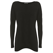 Buy Mint Velvet Layer Knitted Top, Black Online at johnlewis.com
