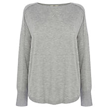 Buy Oasis Long Sleeved Jumper, Mid Grey Online at johnlewis.com