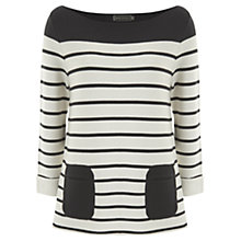 Buy Mint Velvet Striped Pocket Knitted Top Online at johnlewis.com
