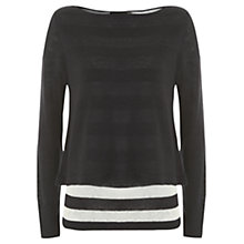 Buy Mint Velvet Striped Double Layer Knitted Top, Navy Stripe Online at johnlewis.com