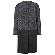 Buy L.K. Bennett Dayton Cocoon Coat, Navy Online at johnlewis.com