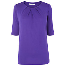 Buy L.K. Bennett Ambon Pleat Neck Top Online at johnlewis.com