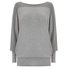 Buy Mint Velvet Block Batwing Knitted Jumper, Grey Online at johnlewis.com