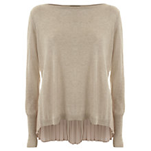 Buy Mint Velvet Button Back Knitted Top, Neutral Online at johnlewis.com