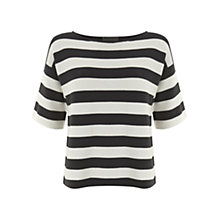 Buy Mint Velvet Striped T-Shirt, Navy / White Online at johnlewis.com