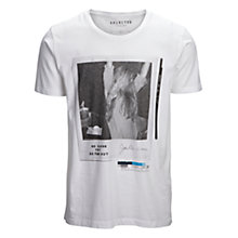 Buy Selected Homme Polaroid Print T-Shirt, White Online at johnlewis.com