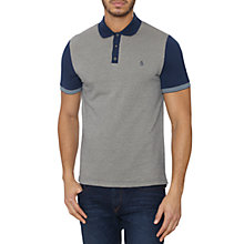 Buy Original Penguin Jacquard Front Polo Shirt, Blue Online at johnlewis.com