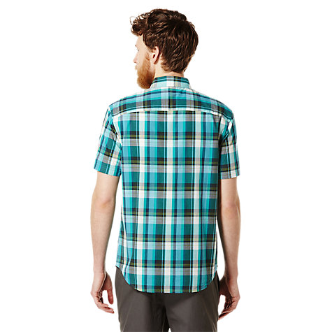 Buy Original Penguin Drend Check Shirt, Bright Aqua Online at johnlewis.com