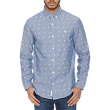 Buy Original Penguin Leaf Motif Button Down Long Sleeve Shirt, Estate Blue Online at johnlewis.com