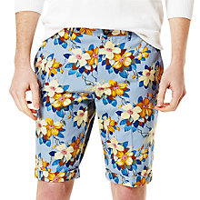 Buy Original Penguin Floral Print Shorts, Faded Denim Online at johnlewis.com
