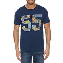 Buy Original Penguin 55 Floral Print Short Sleeve T-Shirt, Dress Blues Online at johnlewis.com
