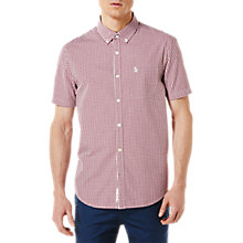 Buy Original Penguin Gingham Short Sleeve Shirt, Purple Online at johnlewis.com