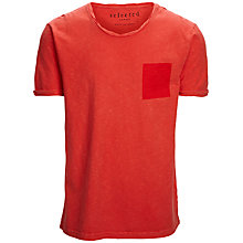 Buy Selected Homme Indigo Isaac T-Shirt Online at johnlewis.com