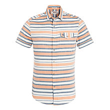Buy Original Penguin Horizontal Striped Shirt, Elm Online at johnlewis.com