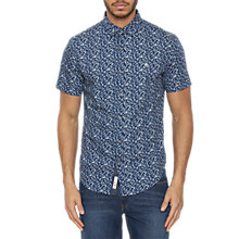 Buy Original Penguin Floral Short Sleeve Shirt, Dress Blue Online at johnlewis.com