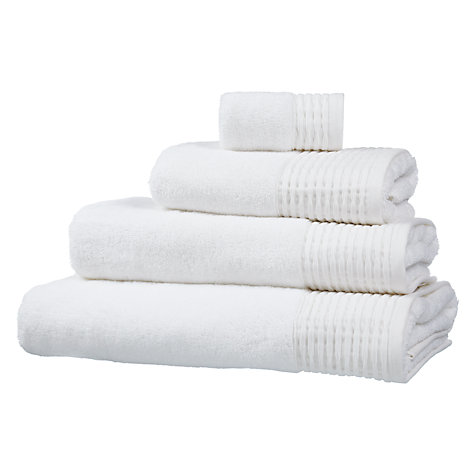 Buy John Lewis Croft Collection Pleated Hem Towels Online at johnlewis.com