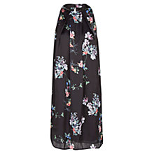 Buy Mango Floral Print Satin Dress, Dark Grey Online at johnlewis.com