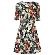 Buy Warehouse Premium Floral Print Dress, Multi Online at johnlewis.com