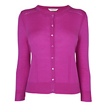Buy L.K. Bennett Brodie Crew Neck Cardigan, Magenta Online at johnlewis.com