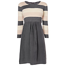 Buy Phase Eight Serenity Stripe Woven Tunic Dress, Camel/Grey Online at johnlewis.com