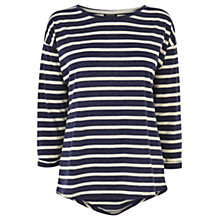 Buy Warehouse Stripe Long Sleeve Boyfriend Top Online at johnlewis.com