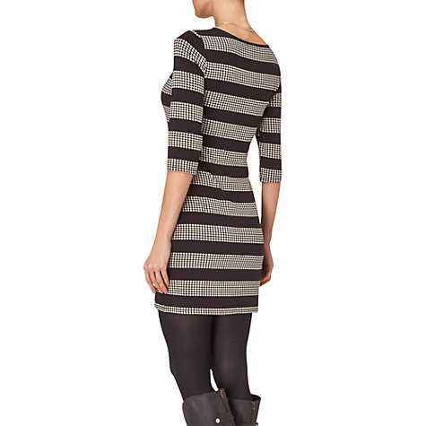Buy Phase Eight Striped Spotted Tunic Dress, Chocolate/Stone Online at johnlewis.com