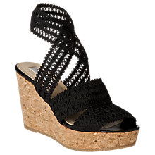 Buy L.K. Bennett Eimear Wedged Sandals, Black Online at johnlewis.com