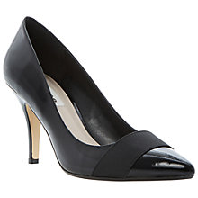 Buy Dune Abigale Elastic Vamp Court Shoes, Black Online at johnlewis.com