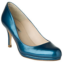 Buy L.K.Bennett Sybila Platform Leather Court Shoes, Patent Royal Blue Online at johnlewis.com