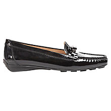 Buy Geox Grin Leather Moccasin, Patent Black Online at johnlewis.com