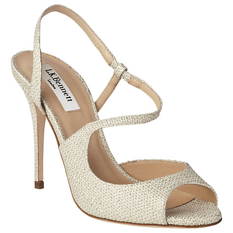 Buy L.K. Bennett Palma Leather Asymmetric Strap Sandals Online at johnlewis.com