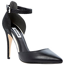 Buy Dune Dita Leather Stiletto Court Shoes Online at johnlewis.com