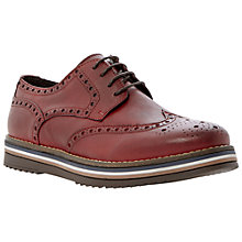 Buy Bertie Bumbled Leather Brogues, Burgundy Online at johnlewis.com