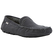 Buy Dune Freddie Faux Furlined Driving Slippers, Grey Online at johnlewis.com