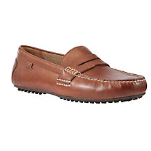 Buy Polo Ralph Lauren Wes Leather Driving Loafers, Tan Online at johnlewis.com