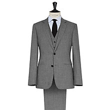 Buy Reiss Steven 3 Piece Textured Suit, Grey Online at johnlewis.com