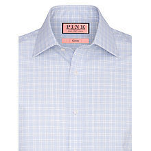 Buy Thomas Pink Ballarne Check XL Sleeve Shirt, Blue/White Online at johnlewis.com